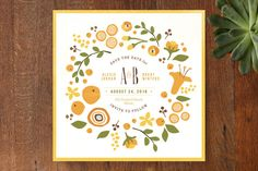 Summer Celandine Save the Date Cards by Jennifer Wick at minted.com