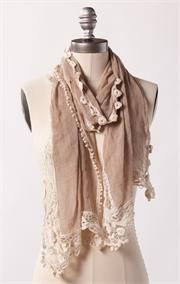 I have been wanting to get a lovely scarf.  So Romantic