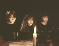 Ron Hermione & Harry  (Harry Potter and the Philosopher's Stone)