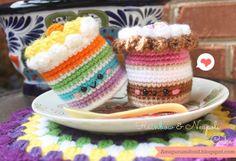 Rainbow Cake and Neapolitan Cake Free Pattern Crochet Food Amigurumi Food: Free pattern  #crochetfood #amigurumifood