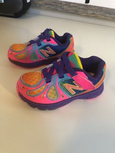 2c9282c90e72 New Balance Toddler Girl s Sneaker Shoes Pink Aqua Yellow Size 6  fashion