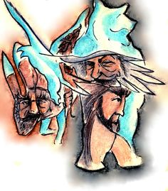 Hobbit-Gandalf-Radagast-Beorn