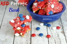 Easy 4th of July recipe for Red Patriotic Bark that you can make ahead of time.