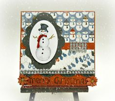 Merry Snowman Christmas Card