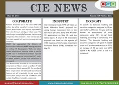 CSB CIE News: (May 20, 2015) Bringing to you important news and key highlights from corporate, industry, and economy. Don't miss the updates! To read more, visit http://www.csbhouse.com/ #stocks #globalnews #researchreports