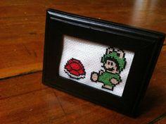 Super Mario Bros 3 - Frog Mario Cross Stitch. $13.00, via Etsy.