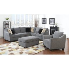 Shop for Emerald Calvina Whistler Grey 2pc Sectional Sofa. Get free delivery at Overstock.com - Your Online Furniture Shop! Get 5% in rewards with Club O!
