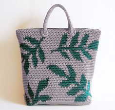 Leaves Backpack by ChabeGS Crochet Backpack Kit - None