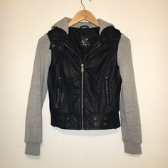 Black and Gray Jacket Black and gray jacket. Sits at the hips and was barely worn. Sleeves are soft and warm! Offers are welcome! Tilly's Jackets & Coats