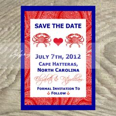 Wedding Invitations or Save The Date  Beach Theme by OldPaperAndPrints, $13.50