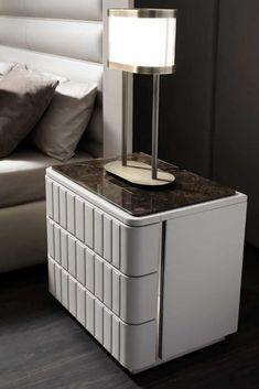 Italy ♥️ Luxury Bedroom Design, Bedroom Furniture Design, Master Bedroom Design, Bed Furniture, Home Decor Furniture, Luxury Furniture, Unique Bedside Tables, Bedside Table Design, Side Tables Bedroom
