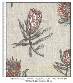 A range of cotton fabric designed by Da Gama Textiles. Fabric Design, Cotton Fabric, Interior Decorating, Textiles, Range, Colours, Collection, Home Decor, Cookers