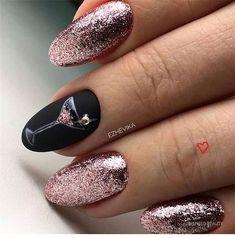 winter nails, winter nail designs, winter nail art, glitter nails, mismatched na… – Red Unicorn Winter Nail Designs, Winter Nail Art, Colorful Nail Designs, Nail Art Designs, Winter Nails 2019, Colorful Nails, Nails Design, Gel Nails At Home, New Year's Nails