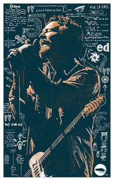 Eddie Vedder Poster by Brian Methe