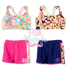 Monogrammed Sports Bra and Shorts Set/ Workout Gear / Sorority Gift/ Purchase Together or Separately