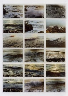 Seascapes  [1972 ] by Gerhard Richter :  I'd like to create a series like this to hang on our wall.