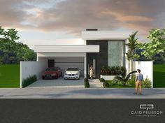fachada casa moderna térrea terreno 12x25