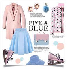 """Pink and Blue"" by ladybug-100 ❤ liked on Polyvore featuring moda, WithChic, Fendi, Martha Stewart, La Cartella, Maison Michel, Michael Kors, Garance Doré, women's clothing e women's fashion"