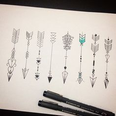 Love the idea of an arrow for a tattoo. Needs to be pulled back before going forward