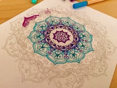 Imagen de mandala, art, and draw