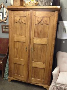 carved pine armoire antique english pine armoire
