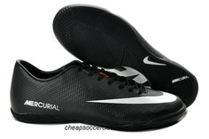 Nike Mercurial Victory IV ACC IC Indoor Soccer Shoes 2013 Black White d12103ca844c6