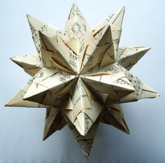 Folded Christmas Star (maybe for the top of the tree?)