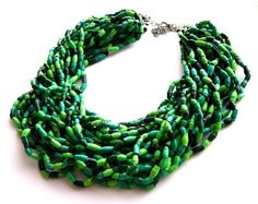 Paper bead necklace