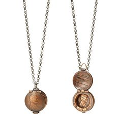 PENNY LOCKET NECKLACE | coin jewelry, copper | UncommonGoods.com