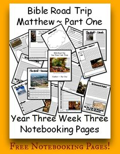 {Free Printable Notebook Pages} Bible Road Trip ~ Year Three Week Three