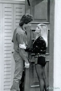 Scott Baio and Samantha Fox in Charles in Charge