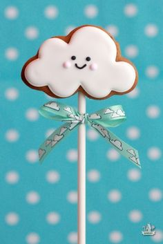 Galleta decorada con forma de nube