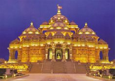Akshardham constructed with the 60 metric tons of Pink Sand from Rajasthan is also famous for Sat-Chit-Anand Water Show. #Nakshatratrip.