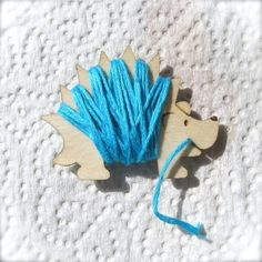 Henry the Hedgehog Embroidery Floss Holder by gigglesnortsociety