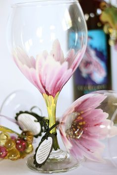Painted wine glasses