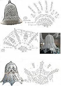 Peek a Boo Teddybear Crochet Diagram, Filet Crochet, Crochet Motif, Crochet Doilies, Crochet Patterns, Crochet Christmas Decorations, Crochet Decoration, Crochet Ornaments, Thread Crochet