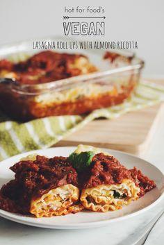 #vegan lasagna roll ups with almond ricotta | RECIPE on hotforfoodblog.com