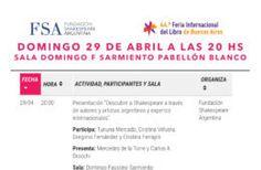 FSA en la Feria Internacional del Libro de Buenos Aires 2018