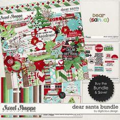 Dear Santa Bundle by Digilicious Design