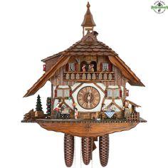 Cuckoo Clock - 8-Day Chalet with Organ Player & Balloons - Schneider