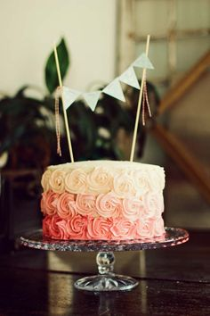 Cute Birthday Cake - its one of my best friends birthdays today.welcoming the weekend with open arms and an appetite for cake and cocktails! Baby Girl First Birthday, First Birthday Parties, First Birthdays, Cake Boss, Bbq Dessert, Cute Birthday Cakes, Birthday Ideas, Gateaux Cake, Rose Cake