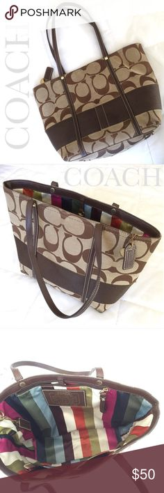 ❤️Coach Tote Purse Beautiful Coach Tote Purse!  Perfect everyday carry all medium sized tote! ❤️ Loved condition, see photos. Coach Bags Totes