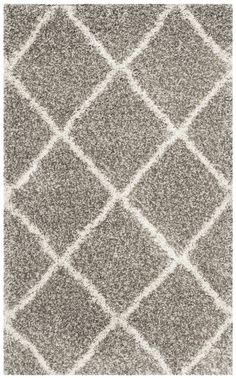 Hampstead Gray/Ivory Shag Area Rug