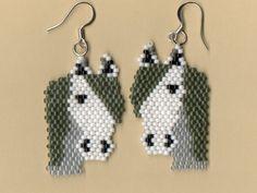 Beaded Arabian Horse Earrings