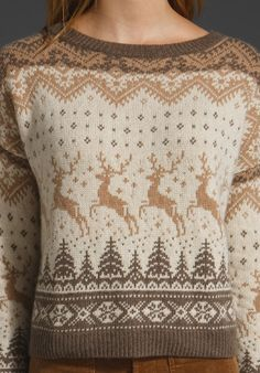 Nordic Sweaters with deer!!