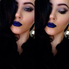 Melt Cosmetics - DGAF Lipstick. Blue matte lips. #makeup INSTAGRAM: @labellalena