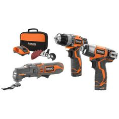 Factory Reconditioned Ridgid ZRR9010 12V Fuego Cordless Lithium-Ion 3-Piece Combo Kit