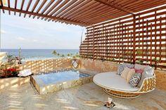 Honeymoon suite at TRS Yucatan in Riviera Maya Mexico.