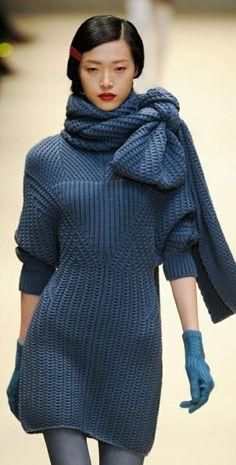 robe pul hiver, bow