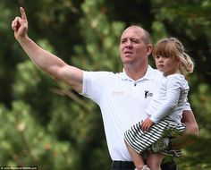 dailymail: Celebrity Cup Charity Event, Wales, July 1, 2017-Mike and Mia Tindall